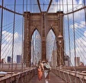 Aristotle and Plato on Brooklyn bridge